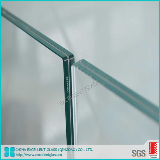 Clear Frameless Tempered Laminated Glass Balcony Fence Stair Railing Glass