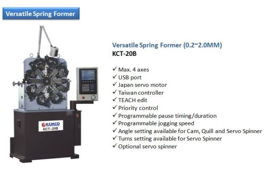 Kcmco-Kct-20b 1.0-2.0mm CNC Versatile Spring Coiling Machine&Difficult Wire Forming Machine pictures & photos