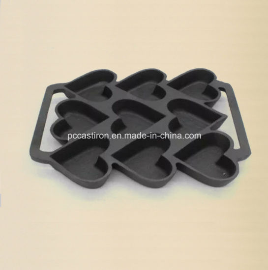 11PCS Cast Iron Cake Pan with LFGB Certificare pictures & photos