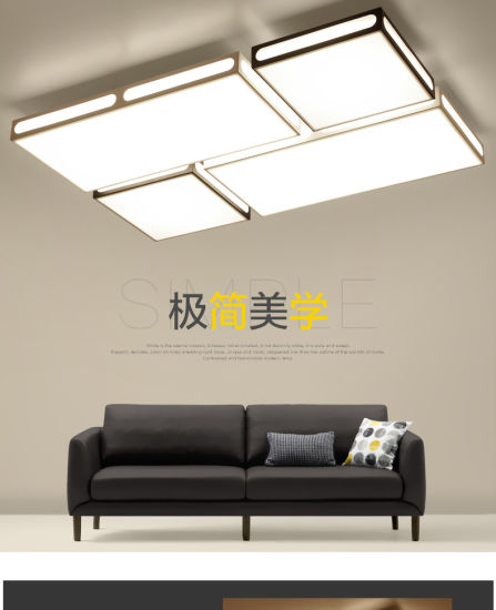 New Square Ceiling Lamp for Living Room, Adjustable Light