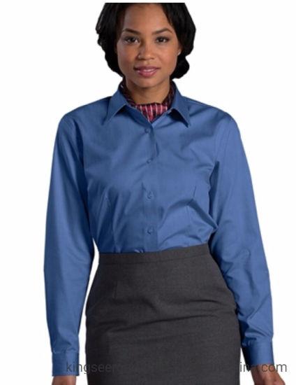 Customized Fashion Workwear Long Sleeve Lady's Shirt Uniforms