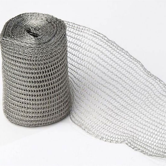 Removable Insulation Jacket Knitted Stainless Steel Wire Mesh Sheet
