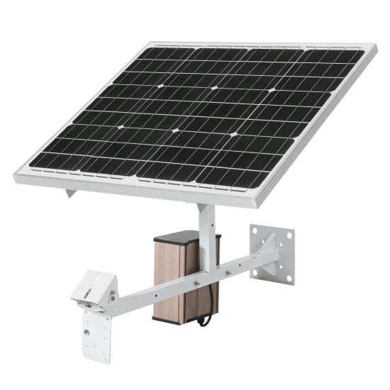 60W 40ah Solar Powered CCTV 2MP HD 1080P Wireless WiFi IP Camera with 5X  Optical Zoom Lens Support Remote Monitoring
