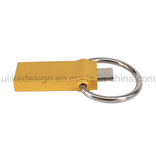 Print Your Logo on The Golden USB Flash Drive (UL-M053) pictures & photos