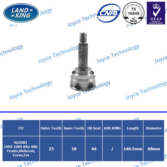 Auto Spare Parts Universal Joint Outer CV Joint Sk-026 for Suzuki Alto/Fronte/Meheran/Cervo/Fsa