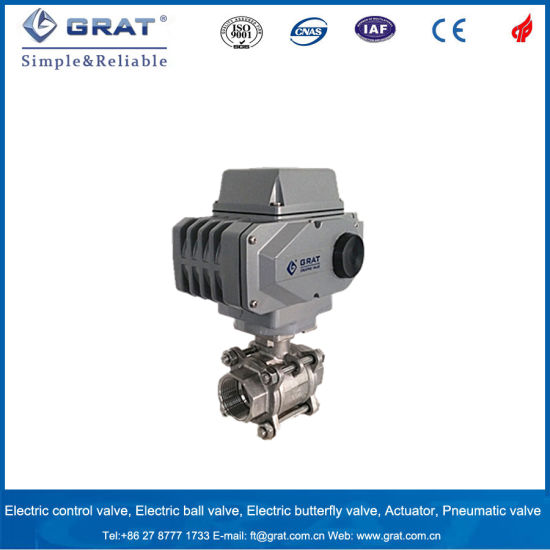 Grat Brand 90 Degree Stroke Electric Inner Thread Ball Valve pictures & photos