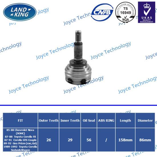 OEM Auto Spare Parts Outer CV Joint GM-003 for Chevrolet Nova/Toyota Corolla/Geo Prizm/Corolla Sedan&Wagon