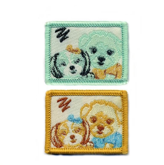 Dogs Design Damask Woven Patch pictures & photos
