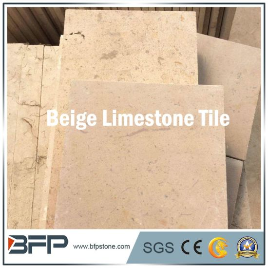Building Material Beige Limestone Flooring Tile for Bathroom Decoration pictures & photos