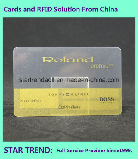 Clear Card with Magnetic Stripe for Shopping Mall pictures & photos