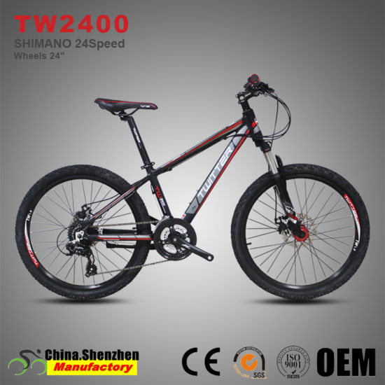 24inch Wheel 24speed Disc Brake Alunminum Children Mountain Bike Bicycle pictures & photos