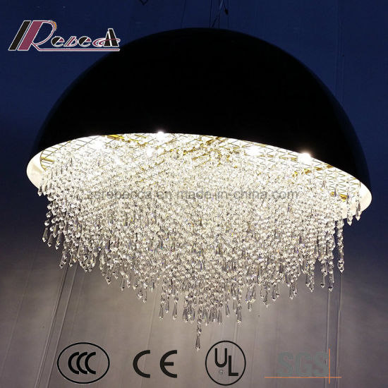 China Modern Unique Oval Crystal Pendant Lamp for Luxury