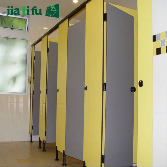 China Jialifu HPL Office Bathroom Restroom Cubicle Dividers China Fascinating Bathroom Stall Dividers Exterior