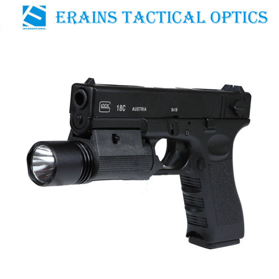 200 Lumens LED Tactical Flashlight Torch 2 Modes 4 Color Lights for Pistol