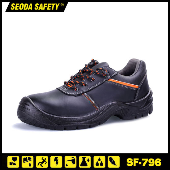S1p/S3 Leather Safety Shoe Anti-Static Anti-Slip Work Shoe for Workers