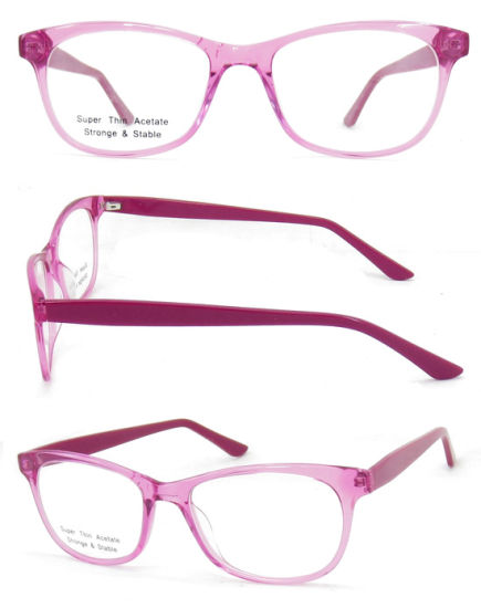 Latest Eyeglasses Frames Acetate Optical Fashion Color Acetate Optical /Eyewear Frame