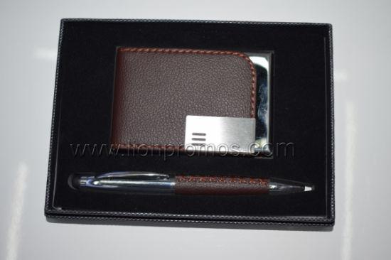 Custom Logo Executive Business Gift Box Packing Name Card Box Pen Set