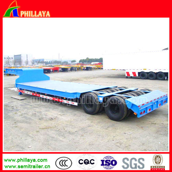 2lines 4axles 3lines 6axles Lowboy Low Bed Semi Trailer pictures & photos