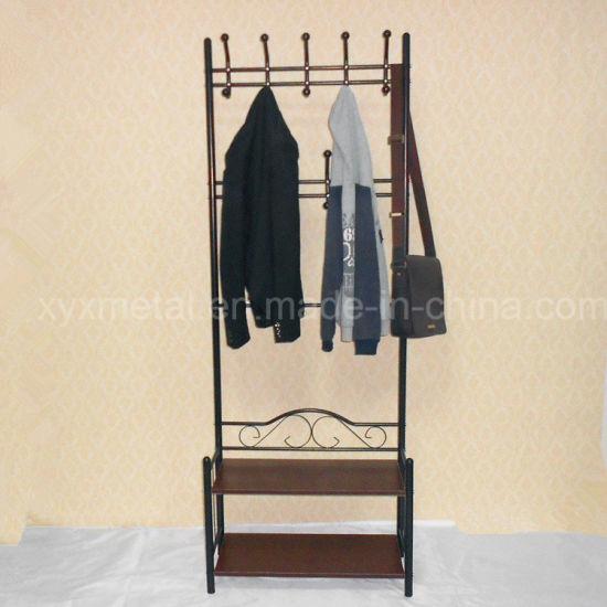 China Living Room Furniture Metal Bag Clothes Garment Coat Hanger Unique Coat Hook Shoe Rack