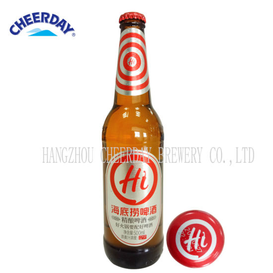 500ml 4.7%Vol Haidilao Craft Beer in Brown Bottle pictures & photos