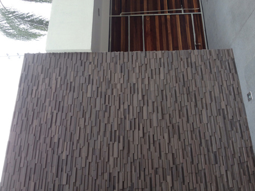 Popular Decoration Material Purple Sandstone for Wall Cladding pictures & photos