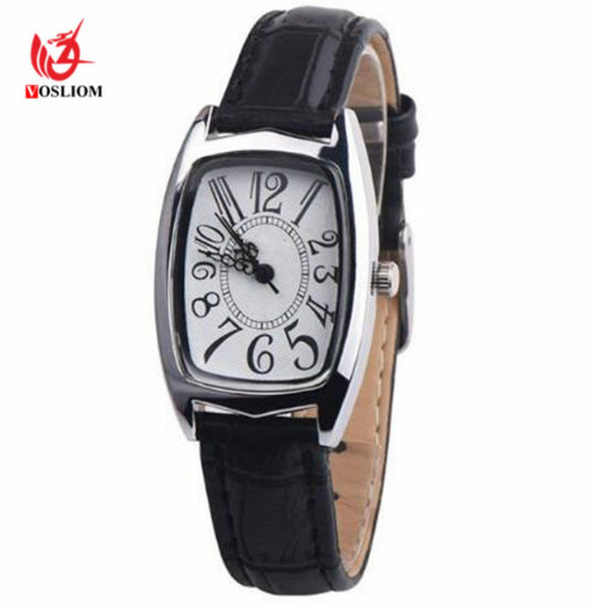 9a00c6306 Lady Square Red Leather Strap Rectangle Casual Fashion Women′s Dress Gift  Watches #V487