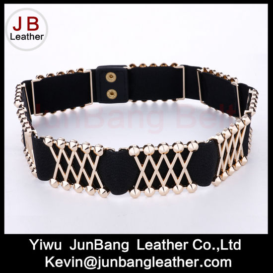 Latest Fashion Elastic & Metal Belt in High Quality for Women pictures & photos