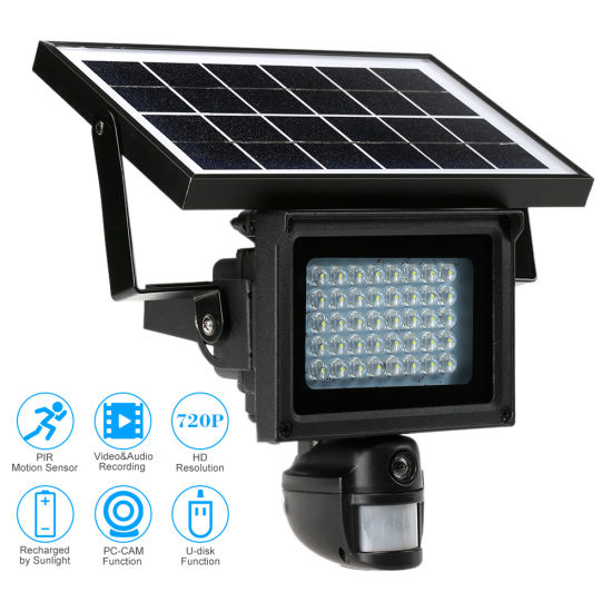 Flood Light Security Camera Wireless Beauteous China Solar Powered CCTV IP PIR Lamp HD Cameras Wireless With LED