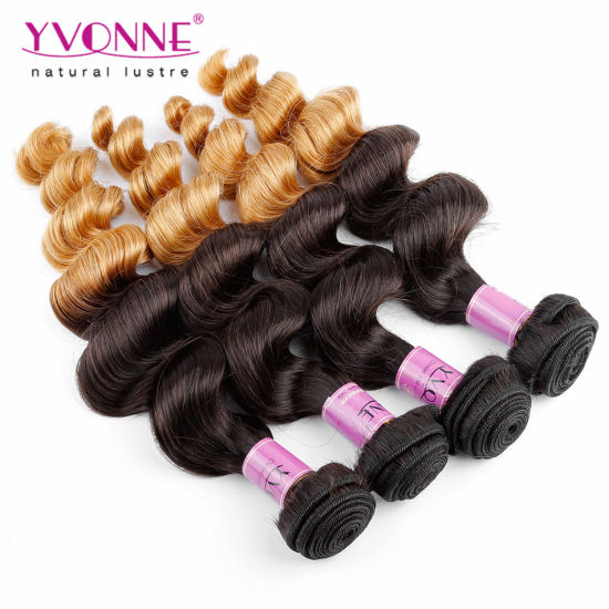 Top Grade Two Tone Color Peruvian Ombre Hair Extension pictures & photos