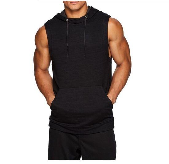 New Fashion Men Clothing Sleeveless Knitted Casual Jacket Sports Hoodie Jacket