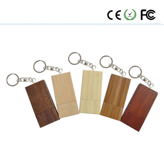 Square Wooden USB Wholesale Gift Custom Bamboo USB Flash Drive