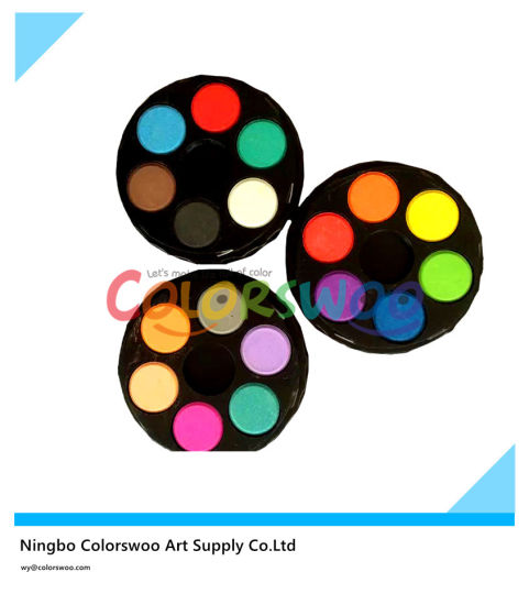 China 18 Colors 2 1cm 3 Layer Water Color Cake for Painting