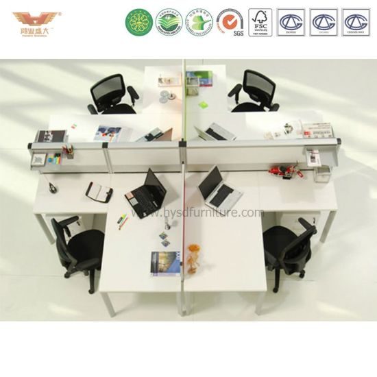 Office Aluminum Cubicle 6 Person Cluster Bench pictures & photos