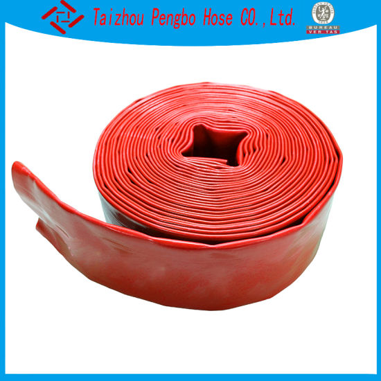 2/3/4/6 Inch Red Color Explosion-Proof High Pressure PVC Layflat Water Hose