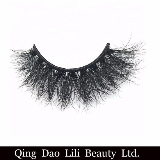 Wholesale Private Label Eye Lashes 25mm 3D Mink Eyelashes Band Mink Lashes  Vendor