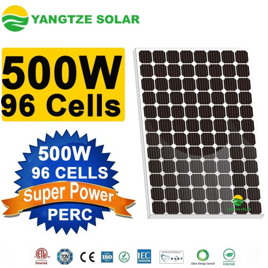 China Biggest Mono 500W Solar Panel with Highest Efficiency