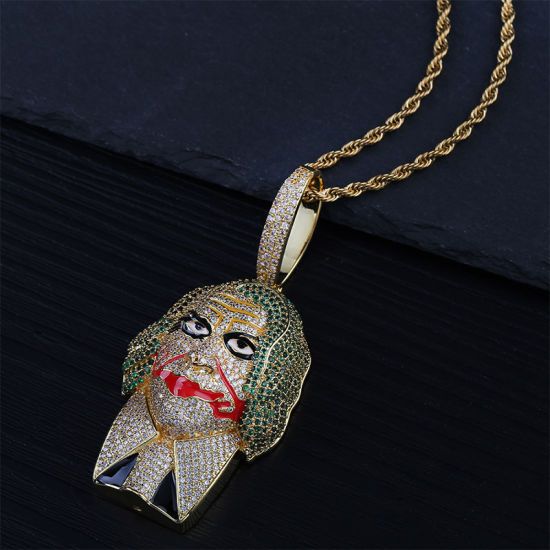 Bling Bling Hip Hop Gold Clown Joker Pendant Necklace Jewelry, Mens′s Jewelry pictures & photos