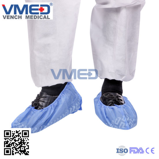 Disposable Shoe Cover, Non-Skid Shoe Cover, Non-Woven Shoe Cover, Medical Shoe Cover, Medical Non Skid Shoe Cover pictures & photos