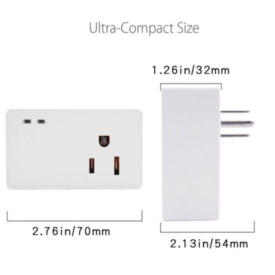 Timethinker Smart Socket WiFi Switch Plug APP Remote Control Ewelink  Wireless Us Adapter Timer Work with Alexa Echo Google Home