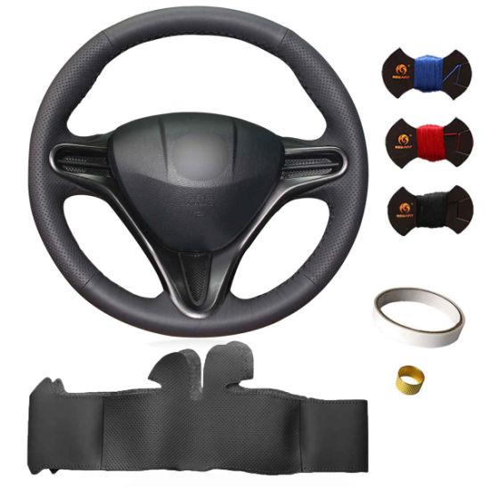 DIY Custom Sewing Leather Needle Steering Wheel Cover for Honda Accord Civic City Fit Jazz CRV Cr-V Odyssey Crosstour Acura Mdx Spirior Crz Tl