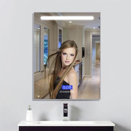 Eco-Friendly LED Lights Anti-Fog Wall Mounted Decorative Furniture Bathroom Mirror China Manufacturer