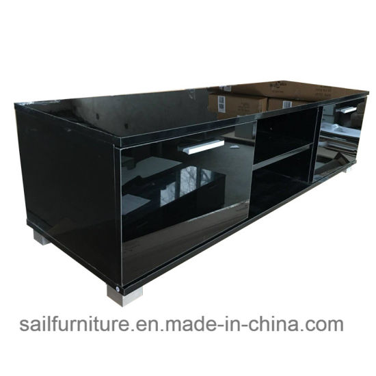 UV High Gloss TV Stand Cabinets in Living Room and Bed Room