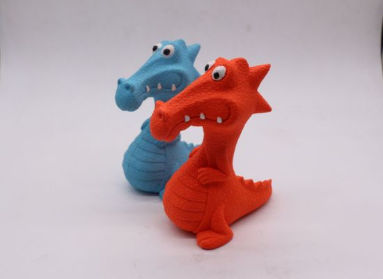 Hot Selling Rubber Dog Toy Squeaky Dinosaur pictures & photos