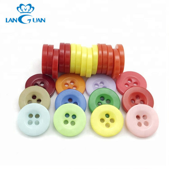 Colorful Broad-Brimmed Four Holes Resin Button for Shirt