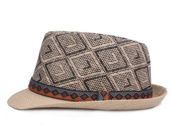 8ef7231d China Promotion Cheap Summer Custom Panama Pape Straw Fedora Hats ...