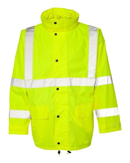 Windproof and Water Repellent Workwear Safety Reflective Jacket