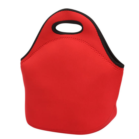 Wholesale High Quanlity Monocolour Insulated Neoprene Lunch Bag with Large Volume