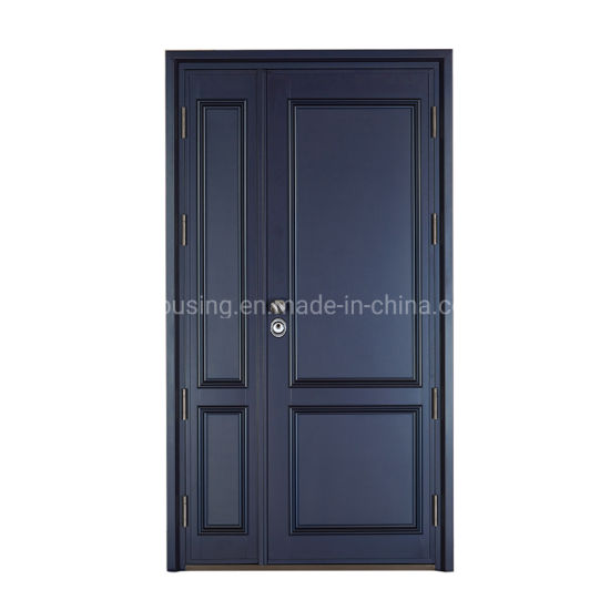 Modern Simple Safe Double Swing Steel Security Door for Zf -Ds-014