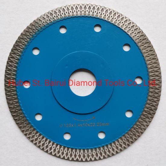 105mm 115mm 125mm 180mm 230mm Supper Thin Mesh Turbo Blade Granite Marble Porcelain Tile Dekton Concrete Asphalt Cutting Turbo Diamond Saw Blade