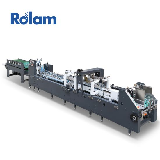 Automatic Folder Gluer Paper Window Patching Packing Bag Cup Box Making Machine (GK-780CA)